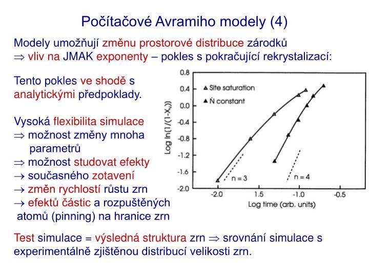 Počítačové Avramiho modely (4)