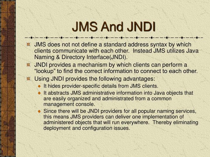 JMS And JNDI