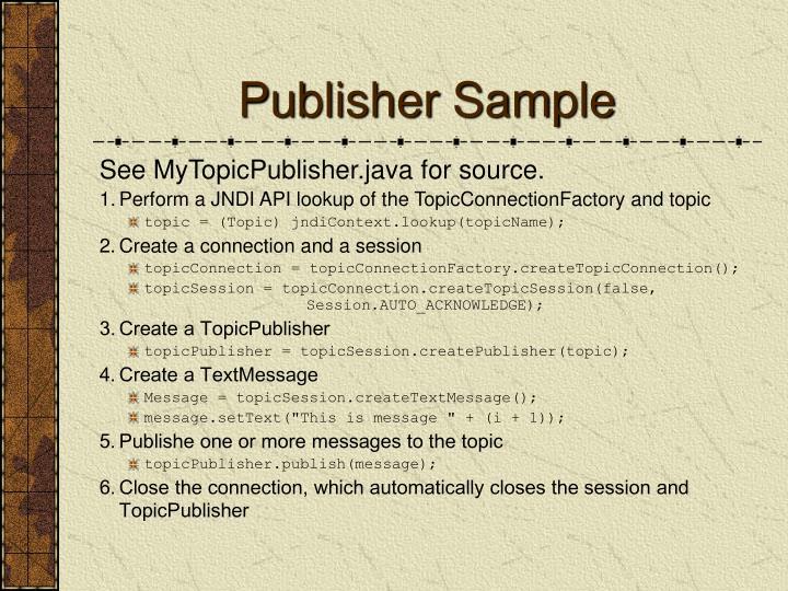 Publisher Sample