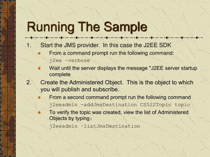 Running The Sample