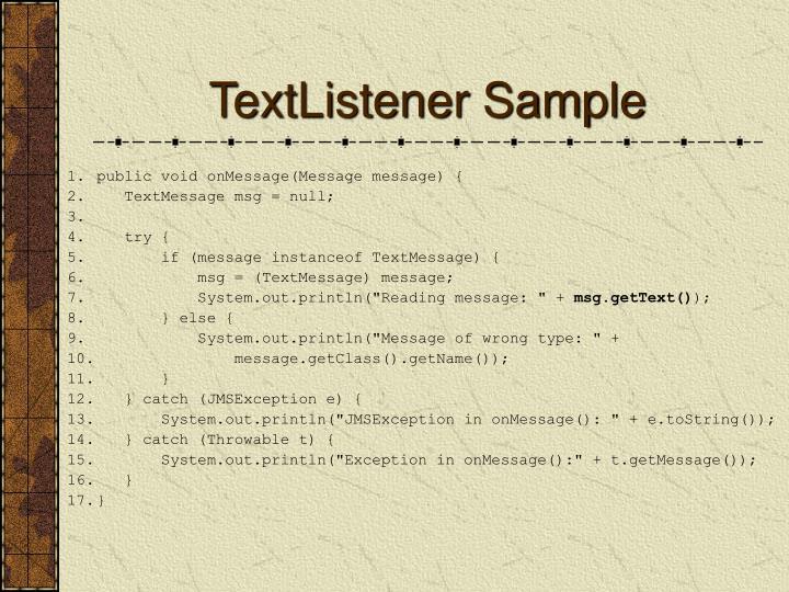 TextListener Sample
