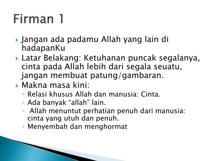 Firman 1