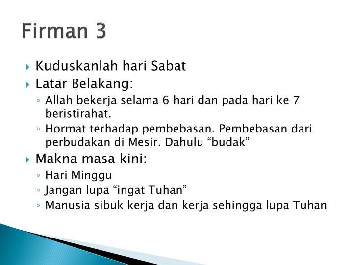 Firman 3