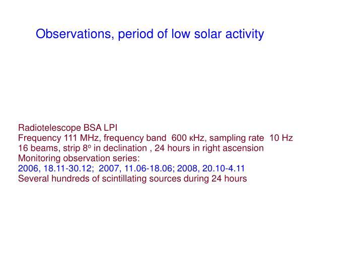 Radiotelescope BSA LPI