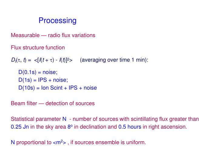 Measurable — radio flux variations