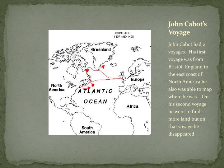 John Cabot's Voyage