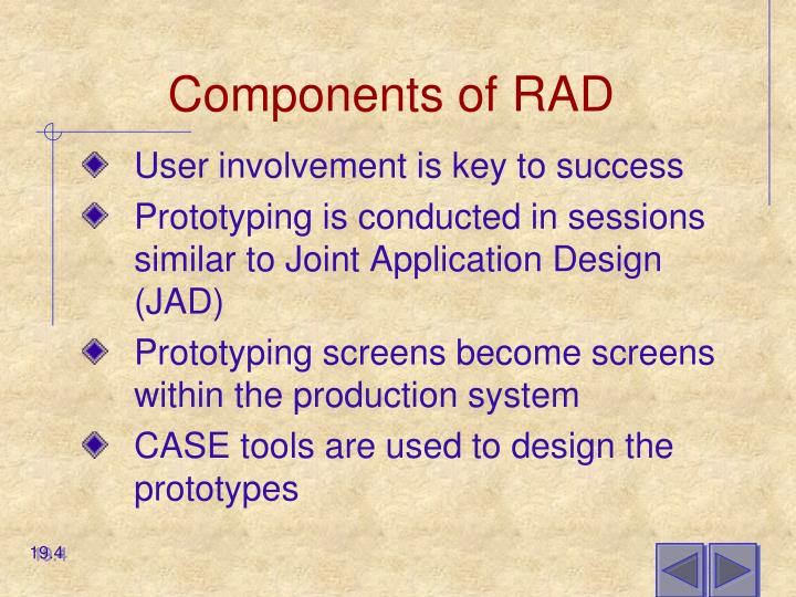 Components of RAD
