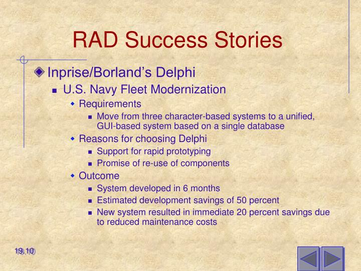 RAD Success Stories