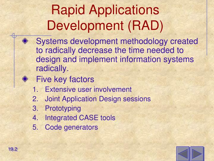 Rapid applications development rad