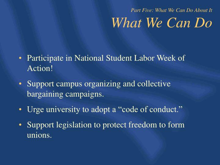 Participate in National Student Labor Week of Action!