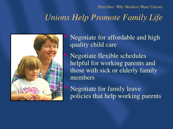 Negotiate for affordable and high quality child care