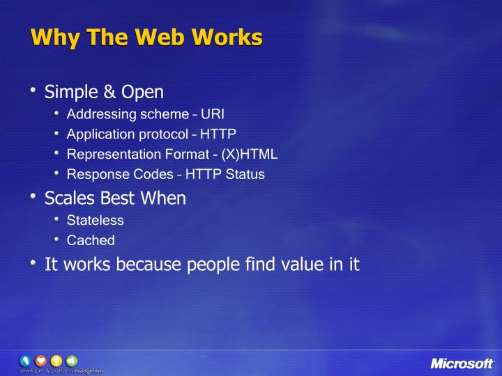 Why The Web Works