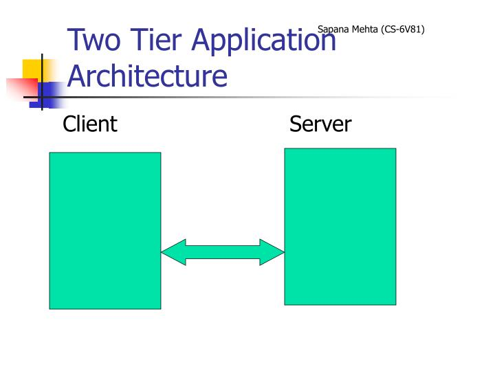 Two tier application architecture