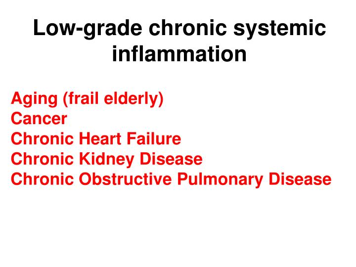 Low-grade chronic systemic inflammation