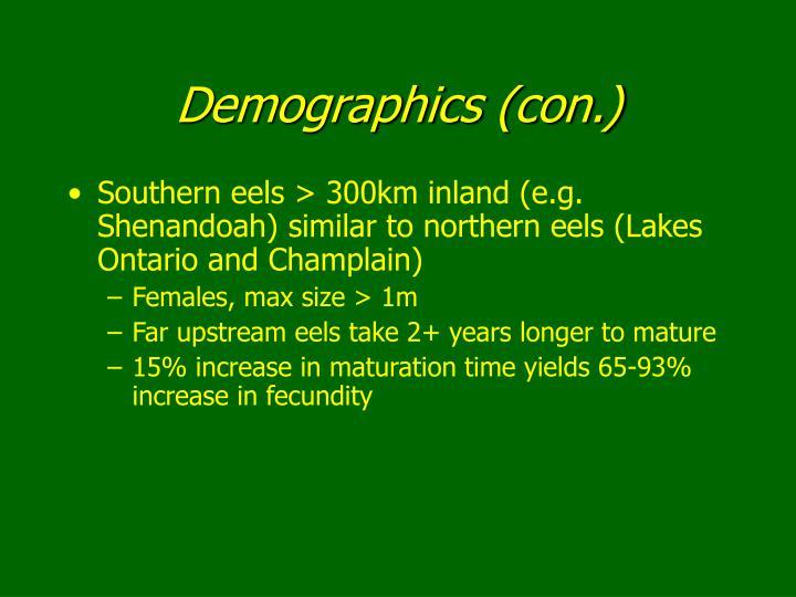 Demographics (con.)