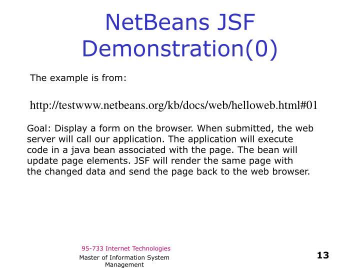 NetBeans JSF Demonstration(0)