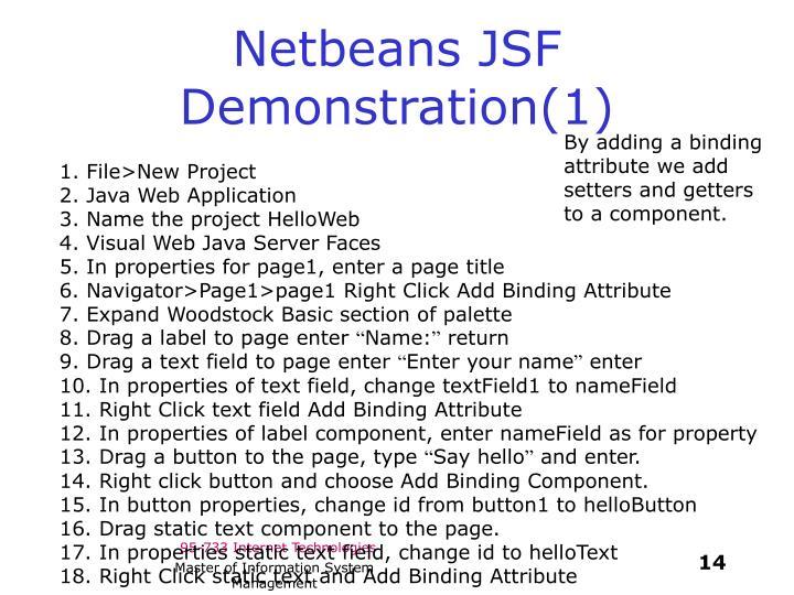 Netbeans JSF Demonstration(1)