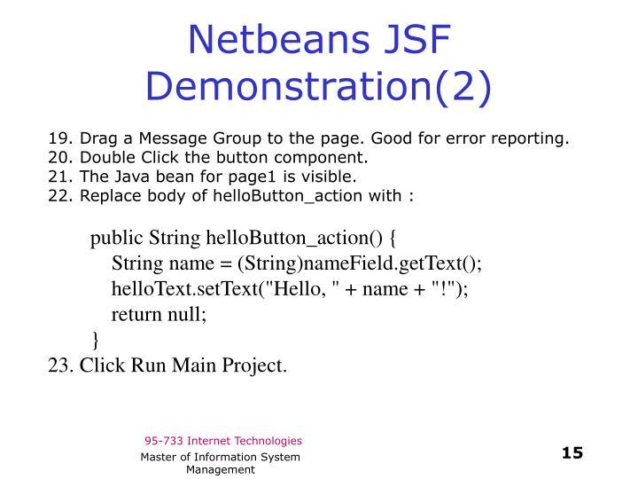 Netbeans JSF Demonstration(2)