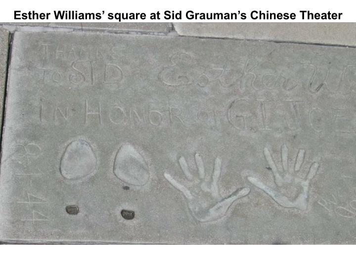 Esther Williams' square at Sid Grauman's Chinese Theater