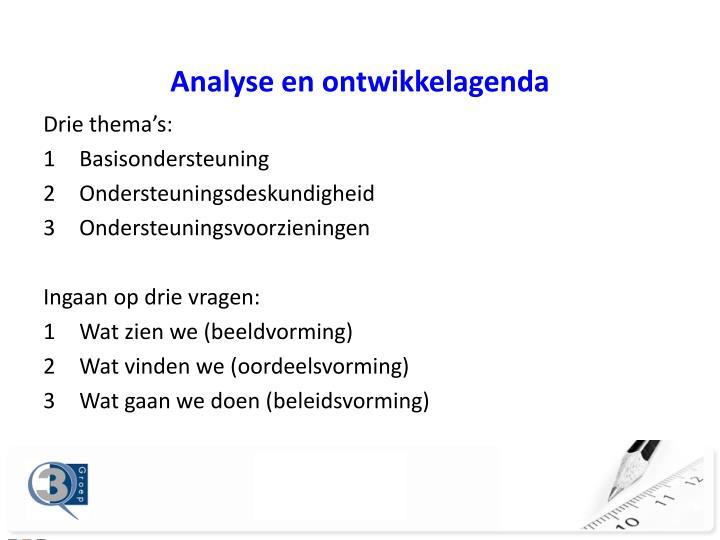 Analyse en ontwikkelagenda
