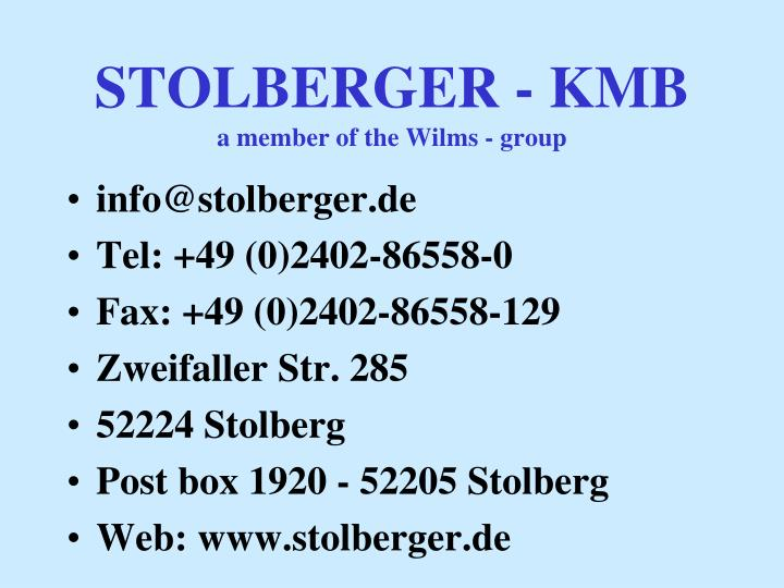 STOLBERGER - KMB