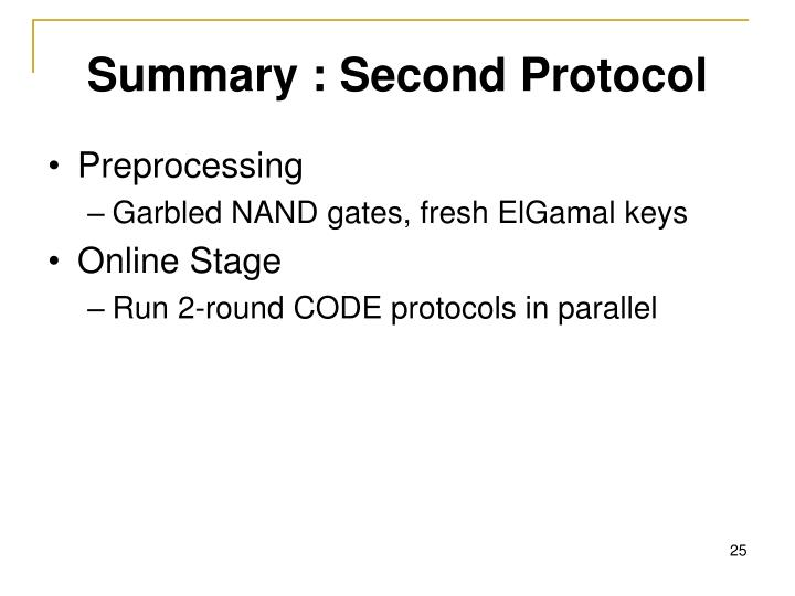 Summary : Second Protocol