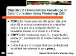 objective 2 4 demonstrate knowledge of color correction using photoshop cs5