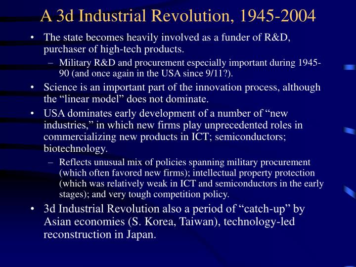 A 3d Industrial Revolution, 1945-2004