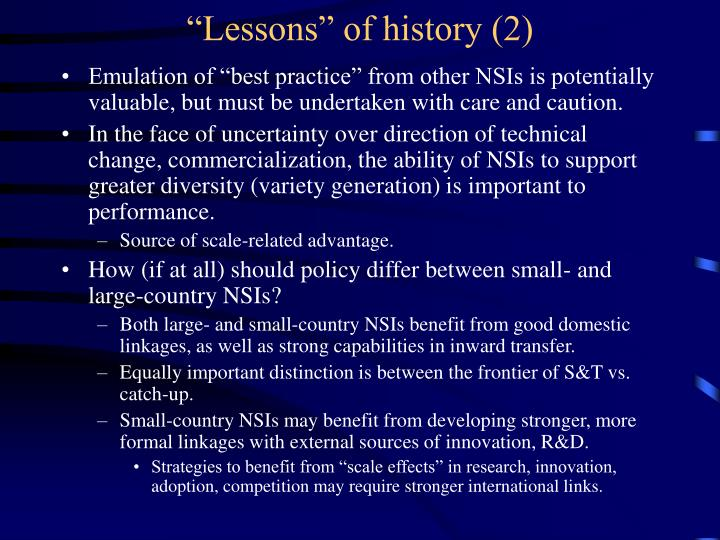 """Lessons"" of history (2)"