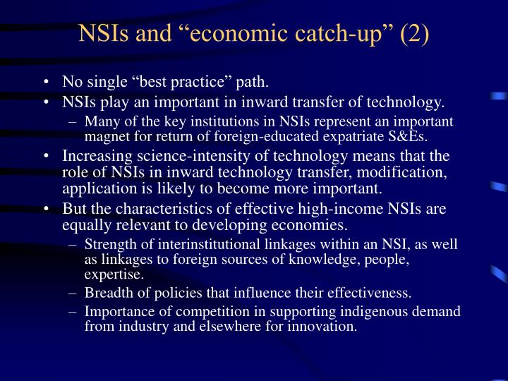 "NSIs and ""economic catch-up"" (2)"