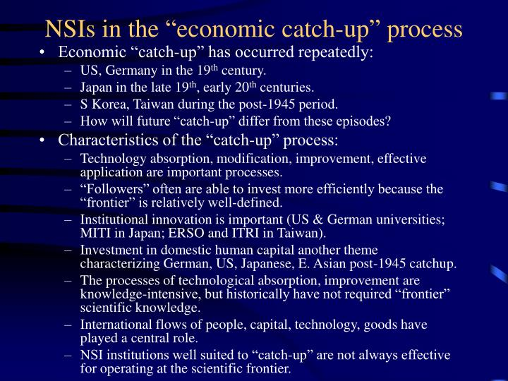 "NSIs in the ""economic catch-up"" process"