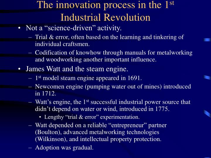 The innovation process in the 1