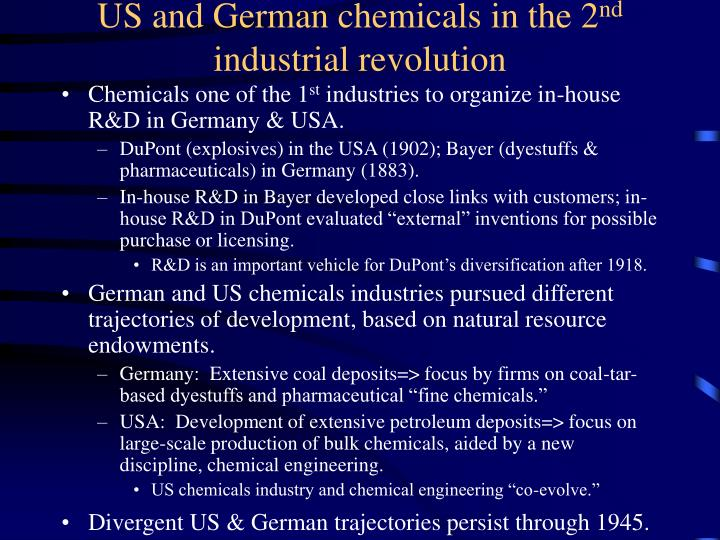 US and German chemicals in the 2