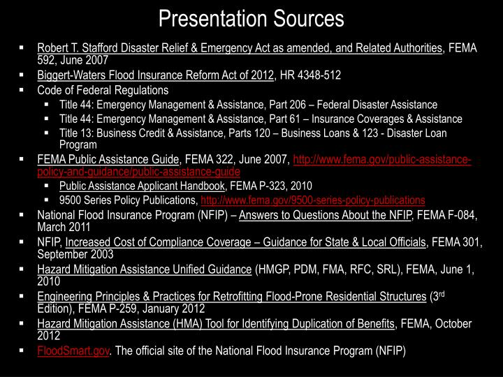 Presentation Sources