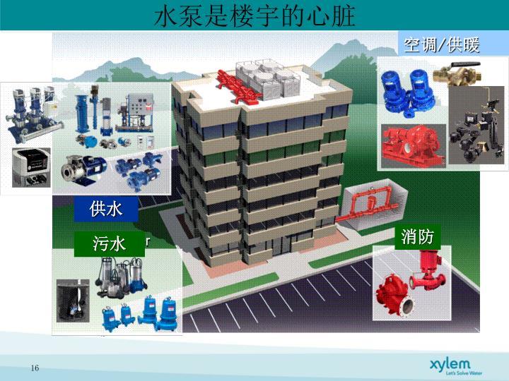 水泵是楼宇的心脏