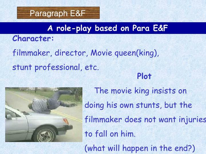 Paragraph E&F
