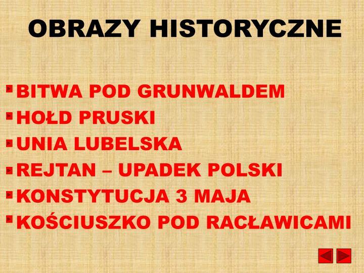 OBRAZY HISTORYCZNE