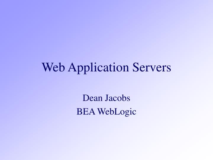 Web application servers