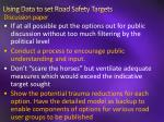 using data to set road safety targets discussion paper