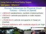 using data to set road safety targets safe system what is it1