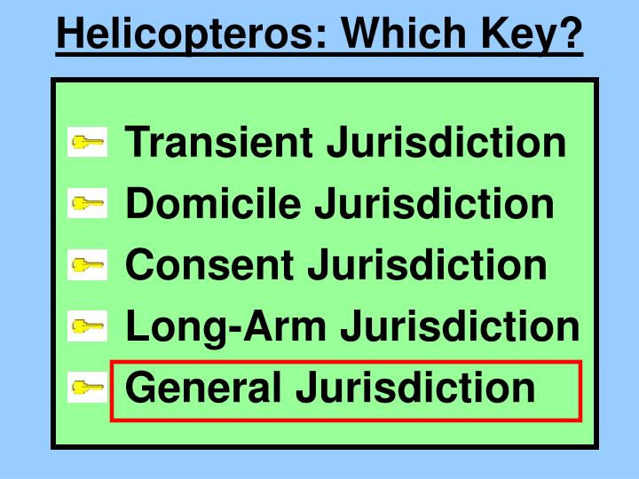 Helicopteros: Which Key?