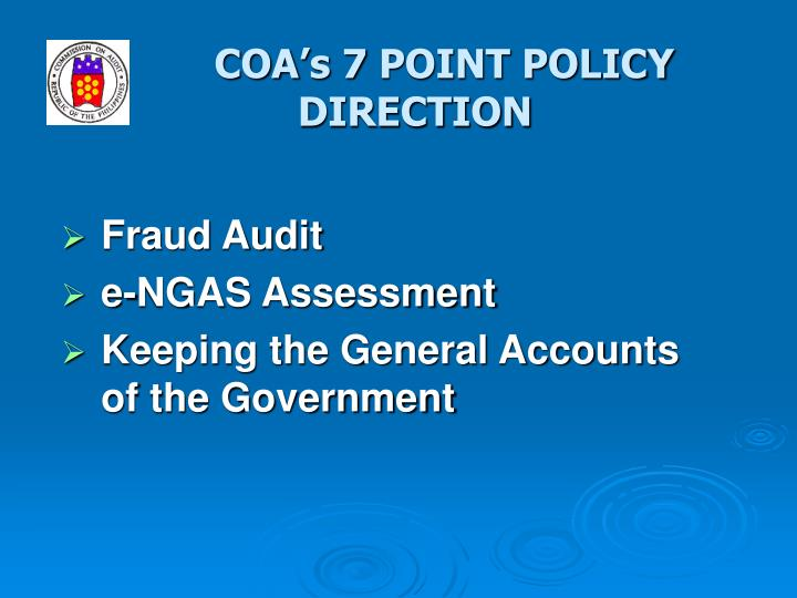 Coa s 7 point policy direction1