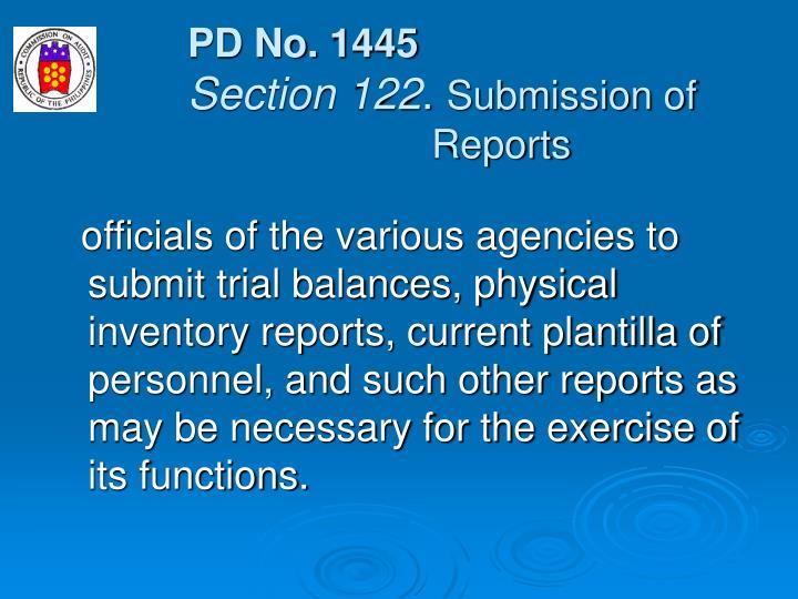 PD No. 1445