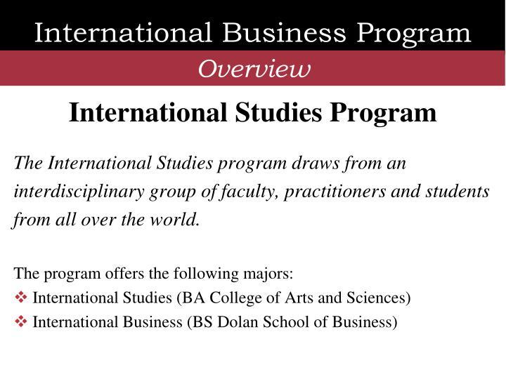 International Studies Program