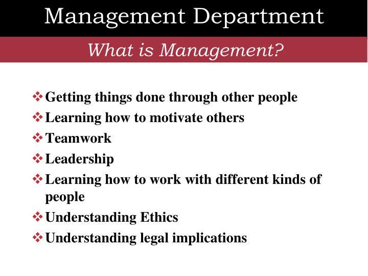 Management Department