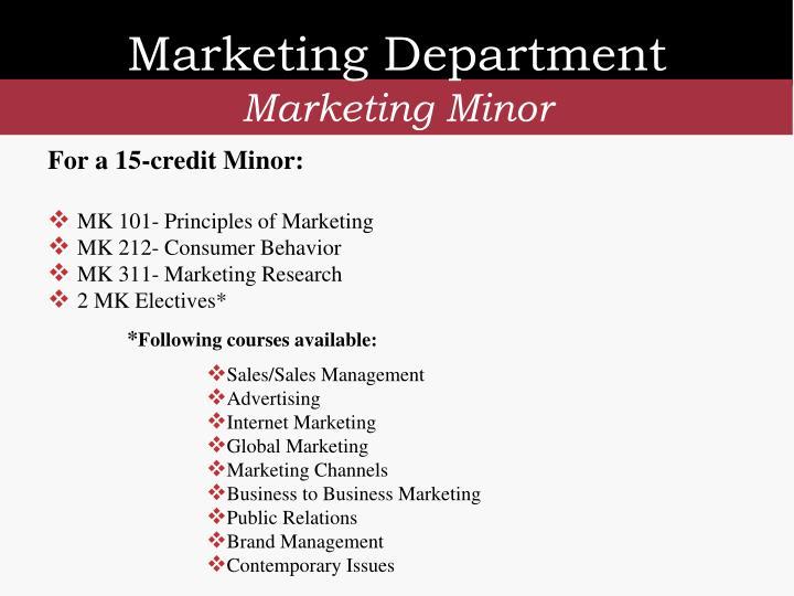 Marketing Department