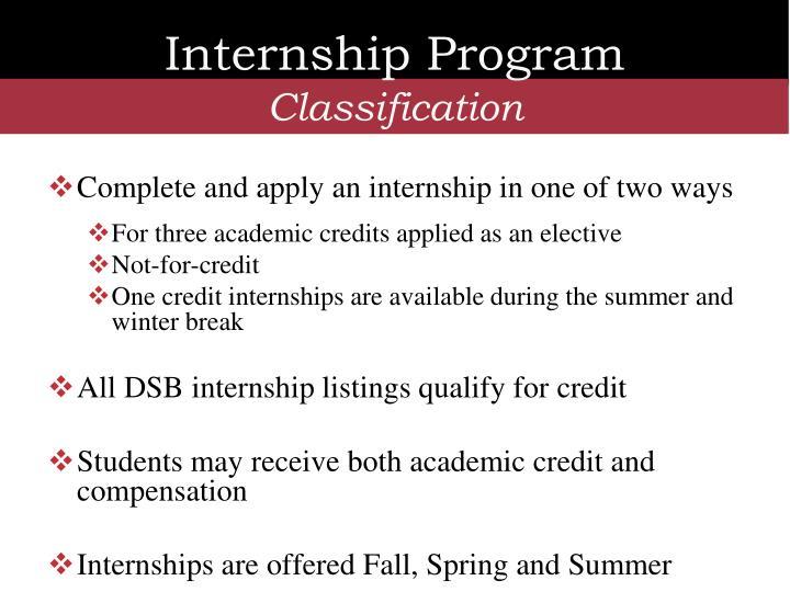 Internship Program
