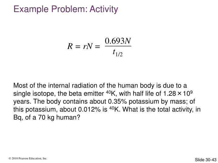 Example Problem: Activity