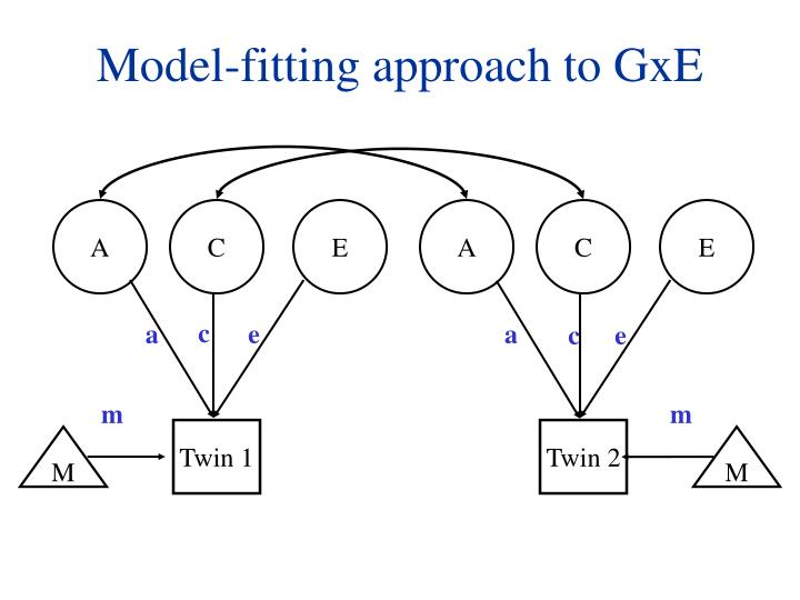 Model-fitting approach to GxE