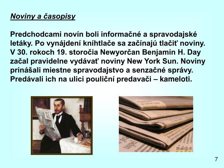 Noviny a časopisy